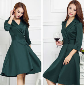 Factory Clothing OEM 2015 Elegant Winter Slim Women Dress pictures & photos