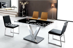 Modern Dining Room Glass Stainless Steel Table pictures & photos