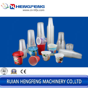 Automatic Plastic Cup Making Machine (HFTF-55T) pictures & photos