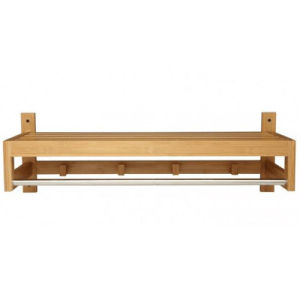 High Quality Bath Bamboo Towel Rack with Hangers pictures & photos