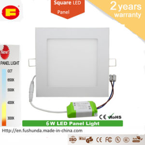 6W LED Panel No Flicker LED Bulb with Square Shape