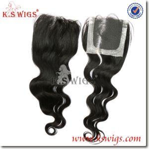 Best Quality 100% Brazilian Hair Top Lace Closure pictures & photos