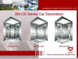 Elevator Cabin Decoration with Etching Panel (SN-CD-161) pictures & photos
