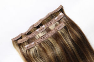 Clip-in Human Hair Extensions Silky Straight 20inches pictures & photos