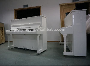 [Chloris] 88 Keys Solid Wooden Baby Piano, White Upright Piano Brands, Vertical Piano Cheap Price Hu-123W