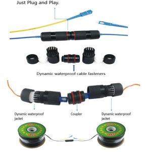 Plug and Play Single-Mode 2 Core Optical Fiber Cables with 2*0.5 Power Lines pictures & photos
