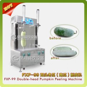 Double-Head Pumkin Peeling Machine, Chinese Watermelon Peeling Machine Fxp-99 pictures & photos