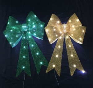 Textured Glitter Christmas Tree Decoration 3D Bow pictures & photos