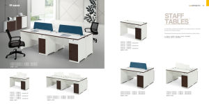 Simple Melamine Office Furniture 1.4m Staff Desk Staff Table Right Cabinet