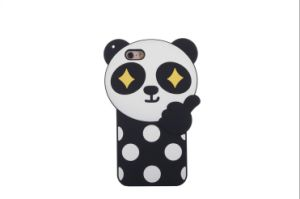 3D Creative Cartoon Panda Colorful Logo Cover Soft Silicone for iPhone 6 6splus Cell Phone Case (XSDW-042) pictures & photos