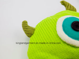 100% Acrylic & Fleece Monster Hat with Braids pictures & photos