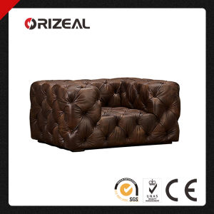 Orizeal Soho Tufted Genuine Leather Chair (OZ-LS-2034) pictures & photos