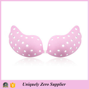 Sexy Seamless Strapless Push up Invisible Silicone Bridal Bra pictures & photos