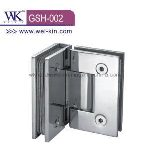 Stainless Steel 304 Pss 4mm 90 Degree Bathroom Hinge (GSH-002)