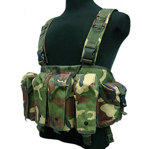 Airsoft Ak Magazine Chest Rig Carry Tactical Vest 600d pictures & photos