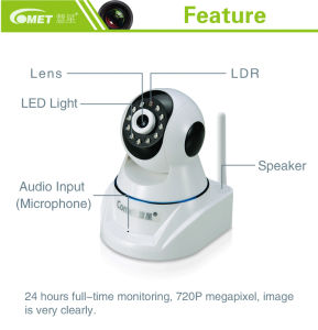 Wireless 360 Degree Wide Angle IP Surveillance Camera for Indoor Use pictures & photos