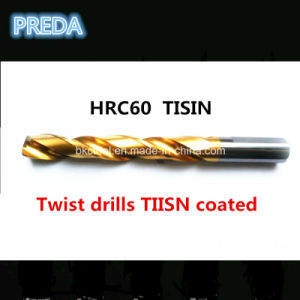 Tisin Coated Twist Drill Bits HRC60 CNC OEM Factory pictures & photos
