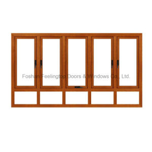 Aluminium Broken Bridge Material Anti-Mosquito Casement Window pictures & photos