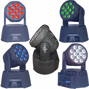 LED 12PCS 12W Wash Moving Head Light Stage Effect Lighting