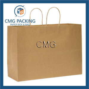 Kraft Paper Medium Tote Retail Bag pictures & photos