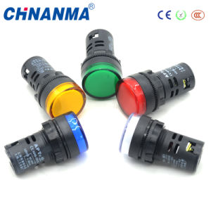 22mm Indicator Lamp/Red Yellow Blue Pilot Lamp pictures & photos
