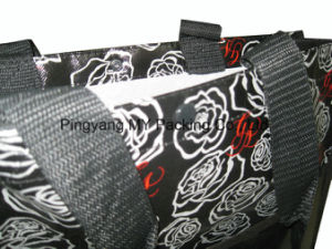 Gravure Printing OPP Film Laminated PP Non Woven Handle Tote Bag pictures & photos