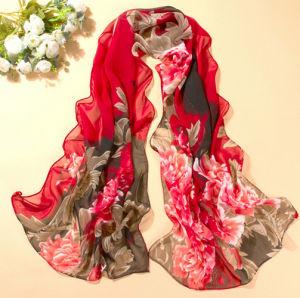 OEM Custom Elegant Silk Scarf pictures & photos