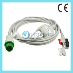 Bruker Sm784, Sm785. One Piece 3-Lead ECG Cable with Leadwires, 12pins pictures & photos