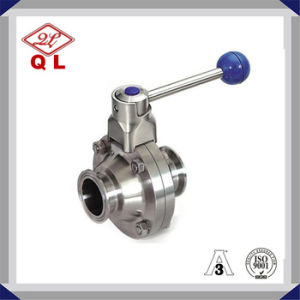 Sanitary Stainless Steel Clamped Butterfly Ball Valve pictures & photos