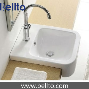 small wash basins in semi-recesesd (5149) pictures & photos