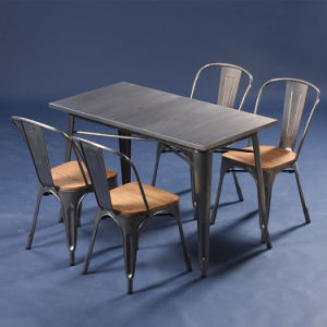 Wholesale Vintage Design Metal Cafe Industrial Dining Table (SP-CT676) pictures & photos