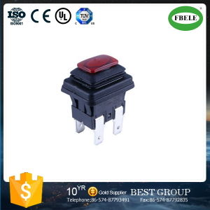 Waterproof Push Button Switch, Square Push Button Switch, Waterproof Lamp Self-Locking 6 A250V Push Button Switch pictures & photos