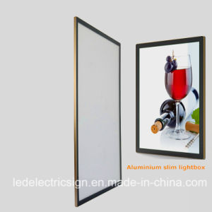 Wall Mounted LED Aluminum Slim Light Box pictures & photos
