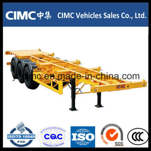 Cimc 40FT 3 Axle Container Skelertal Trailer pictures & photos