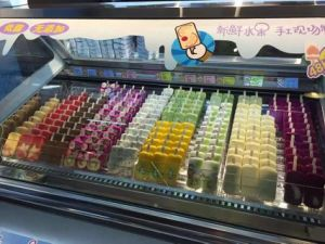 Ice Cream Popsicle Gelato Display Cabinet Freezer pictures & photos