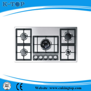 5 Nozzle Burner Gas Hob with Stainless Steel Panel pictures & photos