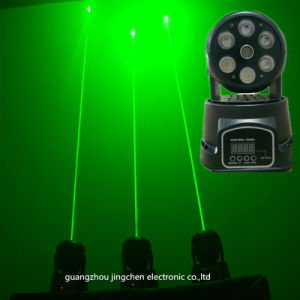 Newest 6*10W LED+ Laser Moving Head Light pictures & photos