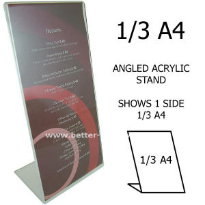 Restaurant Menu Table Tent Menu Holder (BTR-I 6081) pictures & photos