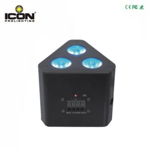 Mini 3X9w 3inn1 Triangle LED Uplight for Stage Light pictures & photos