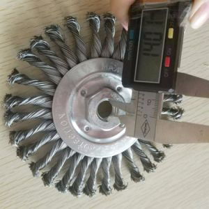 125mm Steel Wire Wheel with M14 Nut pictures & photos