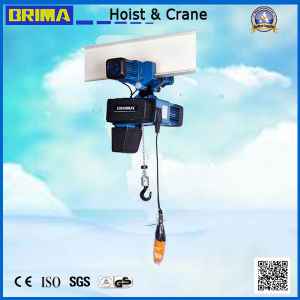 0.5t Brima BMS European Type High Quality Electric Chain Hoist with Trolley pictures & photos