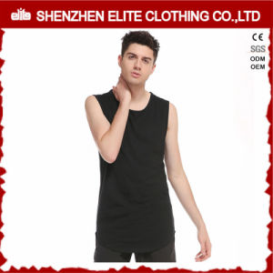 Men′s Fitness Fashion Apparel Cotton Polyester Singlets (ELTVI-7) pictures & photos
