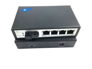 10/100Mbps Fiber 4 Ethernet Port Poe Switch pictures & photos