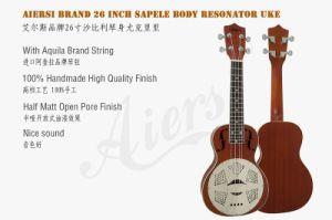 Wholesale Price 26 Inch Mahogany Body Resonator Ukulele pictures & photos