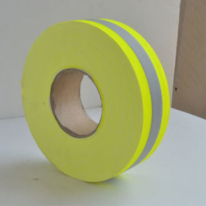 Permanent Flame-Retardant Warning Reflective Tape, Fluo Yellow, with Four Certificates, 400 Microns pictures & photos