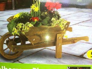 Country Flower Cart Wheel Barrow Garden Planter pictures & photos