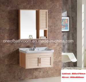 Pastoralism Style Bathroom Cabinet with Mirror (8400) pictures & photos