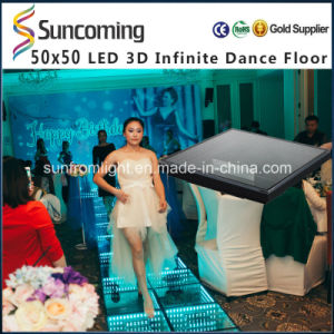 Disco Party Mirror Abyss Effect 0.5*0.5m Infinite 3D LED Dance Floor pictures & photos