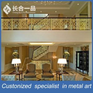 Customized 304#Stainless Steel/Copper Hollow out Luxury Balustrade for Villa/Hotel pictures & photos