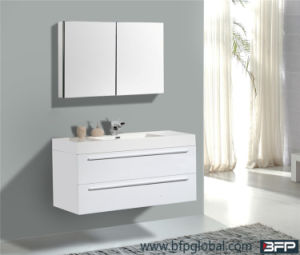 for Villa Project Customized Bathroom Two Pak Lacquer Cabinet with Mirror Wall Cabinet pictures & photos